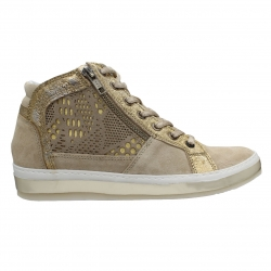 SMART STEPS LEATHER COLLECTION 2195-BEIGE/GOLD
