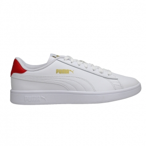 SNEAKERS PUMA SMASH V2 L 36521517 WHITE/RED/GOLD
